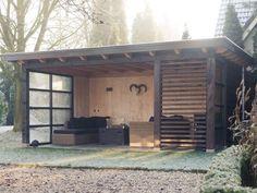 Industrial Decorating Ideas For Your Space Outdoor Gazebos, Backyard Gazebo, Backyard Garden Design, Outdoor Areas, Outdoor Rooms, Backyard Landscaping, Outdoor Living, Outdoor Structures, Outdoor Decor