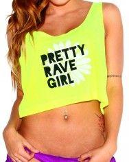 Pretty Rave Girl Crop Top