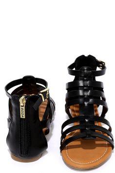 Sand a Chance Black Gladiator Sandals at Lulus.com!