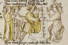 Thomasin <Circlaere>   Welscher Gast (b) Nordbayern (Eichstätt?), um 1420 Cod. Pal. germ. 330 Folio 25r