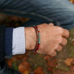 Bracelet ethnique homme   Bracelet tissé main de l Araignée Gypsie    Bracelet cuir   24220c723d1