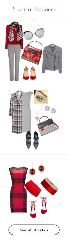 """Practical Elegance"" by cmoligar on Polyvore featuring Christian Louboutin, Joseph, Burberry, Valentino, Fendi, IRO, Calvin Klein, Gucci, ADAM and Effy Jewelry"