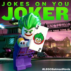Guess who's back... #LEGO #Batman #LEGOBatman #LEGOBatmanMovie #DCComics #SuperHeroes #EverythingIsAwesome #MashupMadness #EverythingIsAwesome #MashupMadness #CombineYourLEGO #UpgradeYourLEGO #BuildSomethingSuper #BuildSomethingBatman #AwesomeAwaits #TheJoker Lego Batman Movie, Im Batman, Lego Dc, Build Something, Everything Is Awesome, Lego Super Heroes, Joker And Harley Quinn, Gotham City, Disney Cartoons