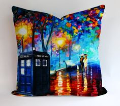 Doctor Who Tardis Box Painting Pillow Cases Covers Design Home Decoration                                                                                                                                                                                 More