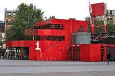 Folly, Parc de la Villette, Paris, France. Design Bernard Tschumi. This folly has got a destination; information centre.