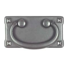 """Buffed Antique Pewter Mission Pull - 3"""""""