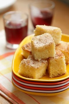 """Gooey cinnamon cake recipe -   """"There is something about this cake that's wildly addictive, speaking from personal experience. (My French friends went nuts over it, too.) To the naked eye, it may just look like a simple butter cake and the two layers may look a bit discernible. But melded together, with the crunchy topping, you won't be able to stop eating the squares of cake. """""""