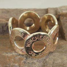 Bullet Ring  Winchester 38 SPL  Size 7 by ShellsNStuff on Etsy