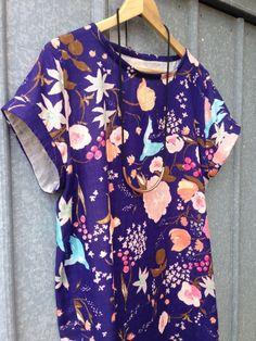 Another Named Inari Tee Dress, this time in Nani Iro Kokka Fuccra double gauze.
