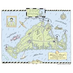 map, Martha's Vineyard~ my favorite place in the world!
