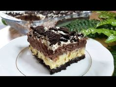 Δίχρωμο γλυκό ψυγείου με oreo και μόνο 6 υλικά!!! - YouTube Tiramisu, Oreo, Chocolate, Ethnic Recipes, Desserts, Youtube, Food, Tailgate Desserts, Deserts