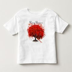 Red Tree Wedding T-Shirts, Gifts, Stickers & Favor Toddler T-shirt