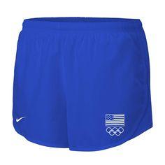 Team USA Nike Women's Flag 5 Rings Mod Tempo Performance Shorts - Royal