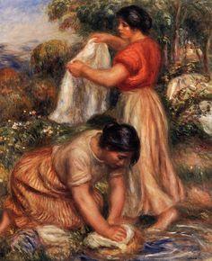 """Laundresses"", circa 1912 Pierre-Auguste Renoir"