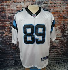 08205a5cc Details about NFL Authentic Carolina Panthers Steve Smith Reebok On Field  Jersey Stitched 52