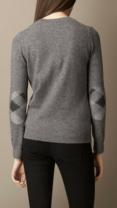 Explore all women's clothing from Burberry including dresses, tailoring, casual separates and more in both seasonal and runway designs Elbow Patch Sweater, Elbow Patches, Fall Sweaters, Cashmere Sweaters, Fall Winter Outfits, Burberry, Women Wear, Men Sweater, Pullover