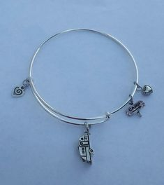 Camper RV Alex and Ani Style Bangle Bracelet with by setzjewelry
