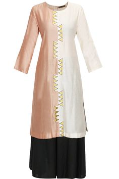 Half and half pink and ivory kurta available only at Pernia's Pop-Up Shop.