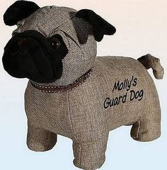 This cute pug door stop can be personalised with a message of your choice to make a delightful present or to buy just for yourself Are you looking