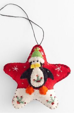 Main Image - New World Arts 'Puffy Star with Penguin' Ornament