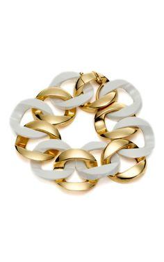 Verdura Ceramic Link Bracelet