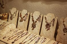 """I wished I could have days for relaxation... but it wasn't to be... I was busy preparing  my week end show...  I made several necklace stands with cardboard with mulberry paper and they are actually rather easy and reasonable so I shall share """"how to""""..."""