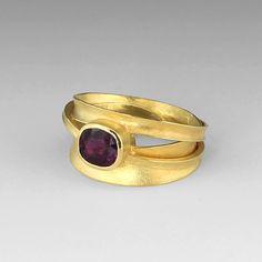 Cushion Cut Burgandy Sapphire Ring,Barbara Heinrich