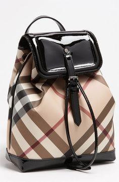 Burberry 'House Check' Backpack (Girls) available at #Nordstrom  I want sooooooooooo bad!