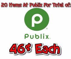 publix cheap items - 20 for $.46 each - http://couponsdowork.com/publix-coupon-matchups/publix-20-for-46-33045/