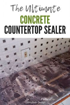 Kitchen Countertops Looking for a durable concrete countertop sealer? This epoxy countertop method is incredibly durable and budget friendly for your countertop makeover! Concrete Countertop Sealer, Kitchen Countertop Materials, Kitchen Countertops, Concrete Lamp, Stained Concrete, Concrete Floors, Countertop Makeover, Diy Home Improvement, Kitchen Decor