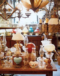 Antique lamp display