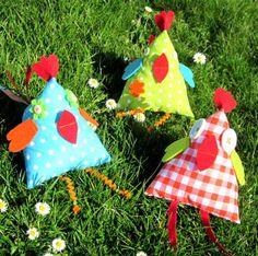 ❀ ✄ DIY Poulettes Coquettes Pâques Tissu / DIY Tissue Easter Hens ✄ ❀