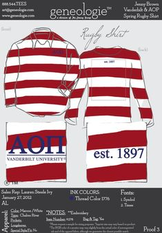 cute idea of A Phi rugby shirt!!!