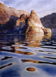 Original Watercolor Paintings by New Mexico Artist David Drummond - Specializing in Lake Powell paintings Iris Painting, Watercolor Landscape Paintings, Seascape Paintings, Landscape Art, Floral Paintings, Watercolor Artists, Indian Paintings, Oil Paintings, Art Aquarelle