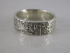 Wide Circuit Board Ring by MetalMonkeyJewellery on Etsy