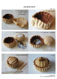 手工教程 Handcraft Tutorials: Felt: Muffin (in Chinese)