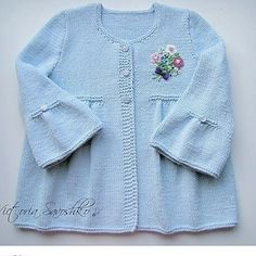 This Pin was discovered by hab Baby Cardigan Knitting Pattern, Knitted Baby Cardigan, Baby Knitting Patterns, Knitting Designs, Baby Patterns, Knitting Ideas, Knitting For Kids, Crochet For Kids, Knit Crochet