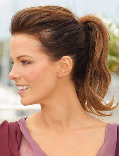 Kate Beckinsale ponytail