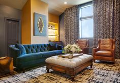 Small Accent Chairs For Bedroom Round Back Dining Chairs, White Dining Chairs, Patterned Chair, Patterned Carpet, Leather Sofa, Leather Chairs, London Decor, Blue Velvet Sofa, Comfortable Living Room Chairs