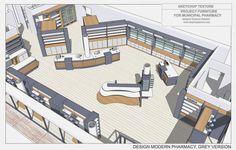 Low Budget Home Decoration Ideas Key: 1909764880 Interior Design Sketches, Shop Interior Design, Store Design, 3d Design, Dental Office Design, Medical Design, Bridal Boutique Interior, Mobile Shop Design, Healthcare Architecture