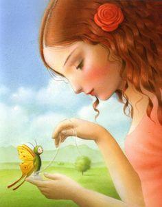 Nicoletta Ceccoli: the pretty butterfly  / #nicolettaceccoli #nicoletta #ceccoli