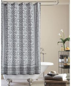 Jessica Simpson Mosaic-Tile Shower Curtain - Shower Curtains - Bed & Bath - Macy's