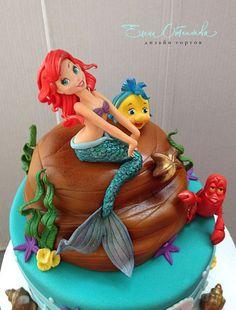 Super cake designs disney little mermaids 37 Ideas Little Mermaid Cakes, Mermaid Birthday Cakes, Birthday Cake With Flowers, Little Mermaid Birthday, The Little Mermaid, Cake Birthday, Fondant Cookies, Cupcake Cakes, Sirenita Cake