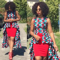 Nice African Traditional Wedding Dress We all know how famous and domineering the Ankara fabric is especially in recent. African Tops, African Dresses For Women, African Print Dresses, African Print Fashion, Africa Fashion, African Attire, African Fashion Dresses, African Wear, African Women