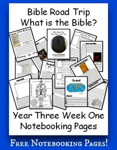 {Free Printable Notebook Pages} Bible Road Trip ~ Year Three Week One