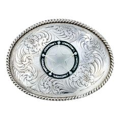 Star Concho Antiqued Engraved Buckle 1350RTS-C325U