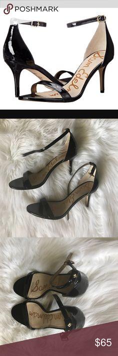 Sam Edelman Black Patent Patti Black patent Patti style shoe by Sam Edelman. 3 inch heel. Gently worn, small scuff on left heel as shown in last photo. Sam Edelman Shoes Heels