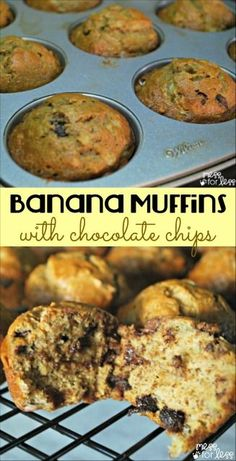 Have some ripe bananas? Don't get rid of them. Use them to make these amazing Banana Muffins with Chocolate Chips. Yum!