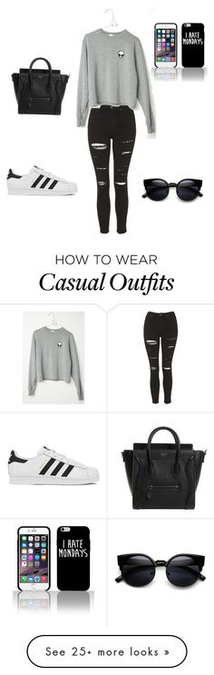 """Casual"" by feer-lopeez on Polyvore featuring moda, Topshop, adidas, women's clothing, women's fashion, women, female, woman, misses y juniors"