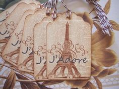 Tags J'Adore Vintage Style Paris Gift or Price Tags by bljgraves, $4.00